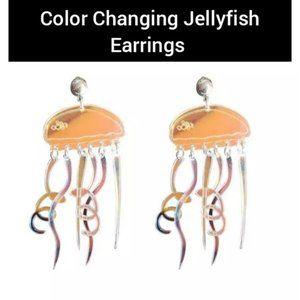 Iridescent Jellyfish earrings
